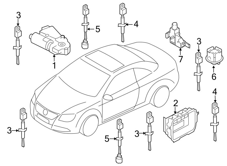 2008 Volkswagen Eos Sunroof Motor. Sunroof Motor. Replace