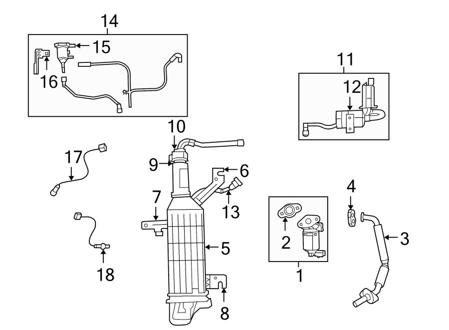 Volkswagen Routan Egr valve gasket. 3.8 liter. 4.0 liter