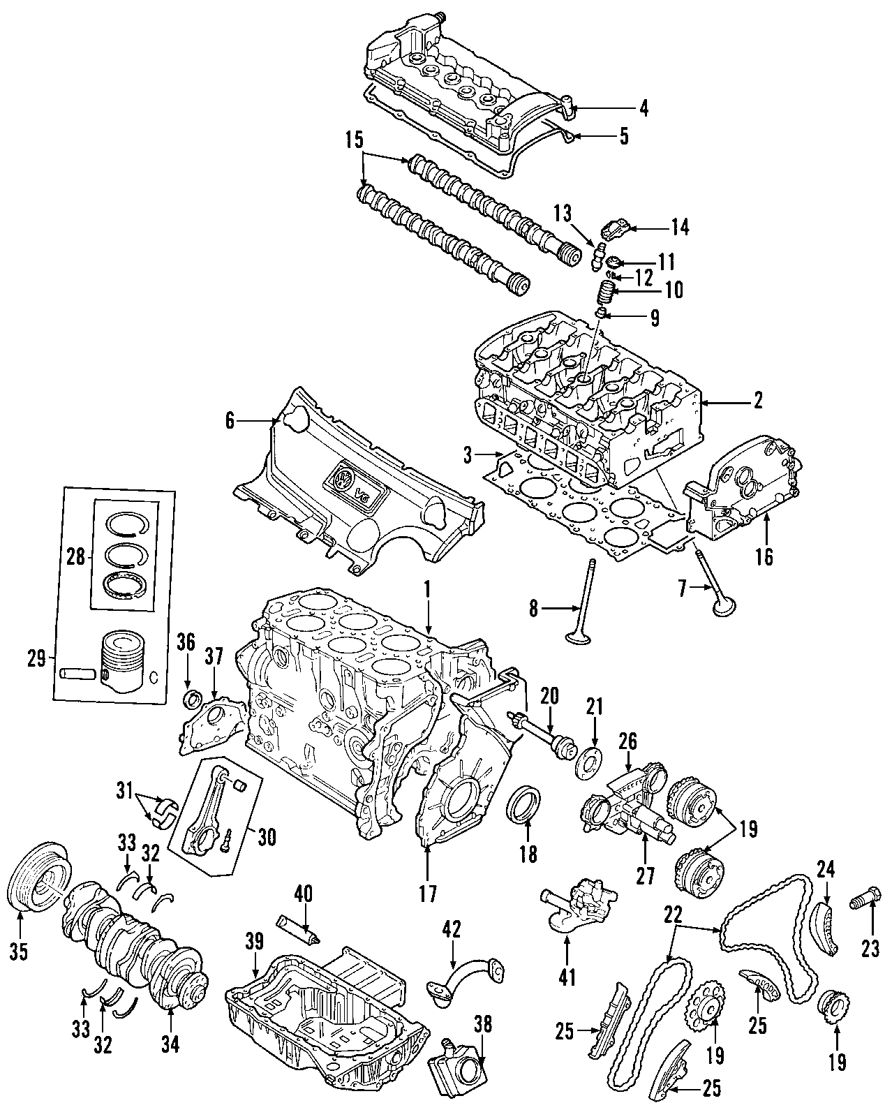 2004 Volkswagen Jetta GLI Engine Timing Chain Tensioner