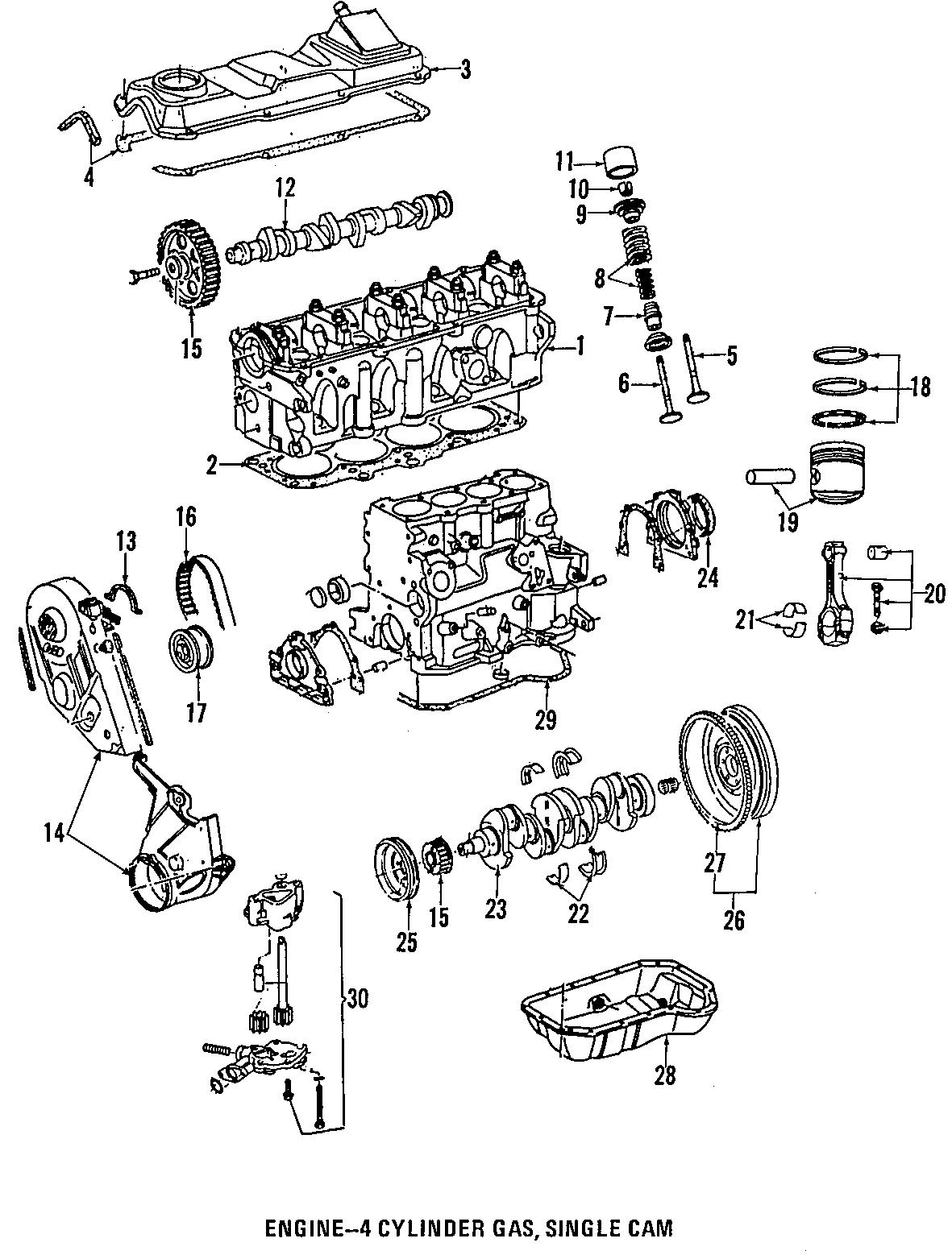 2001 Volkswagen Jetta GLS Sedan 2.0L M/T Engine Crankshaft