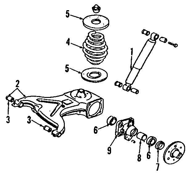 1991 Volkswagen Vanagon Suspension Control Arm Bushing