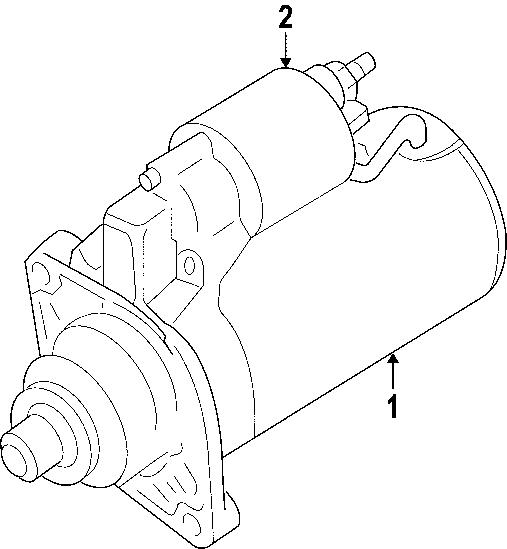 2011 Volkswagen Tiguan Starter Motor. Remanufactured