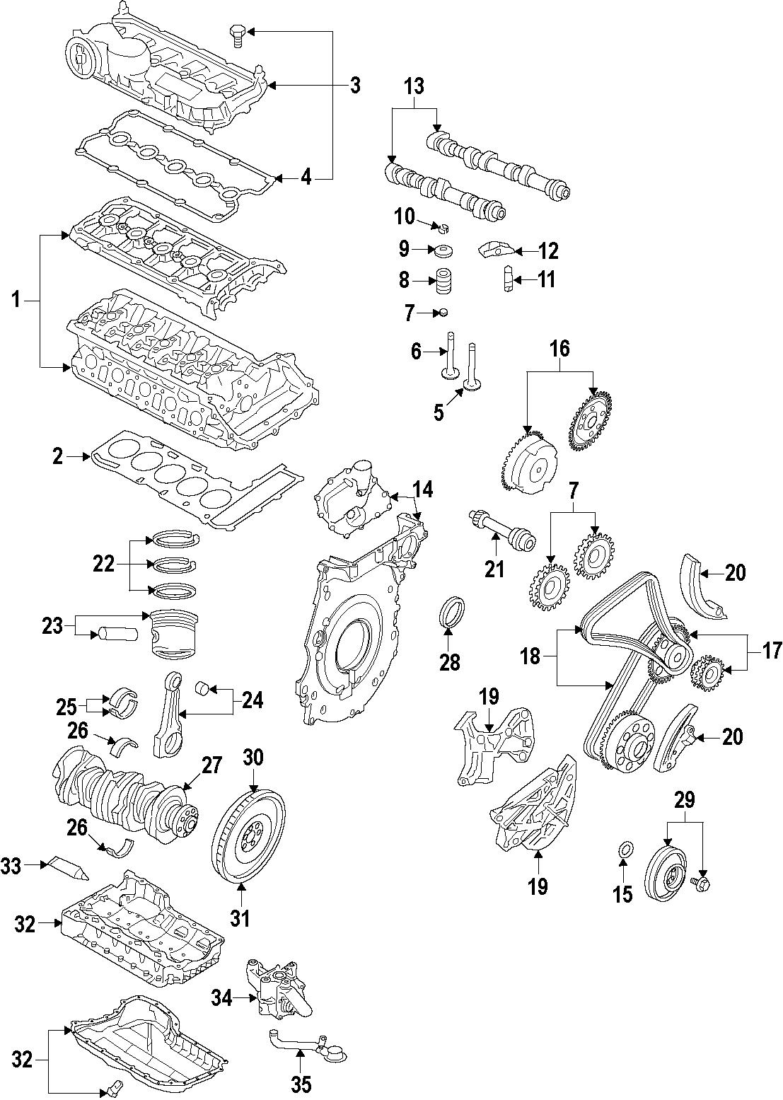 2006 Volkswagen Rabbit Engine Cylinder Head Gasket. Engine
