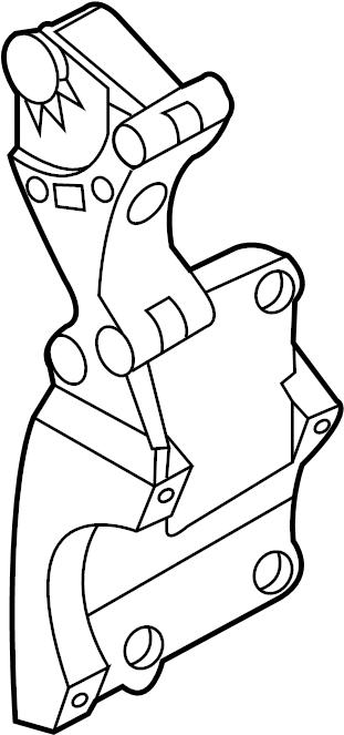 2006 Volkswagen Jetta Alternator BRACKET. Mount bracket