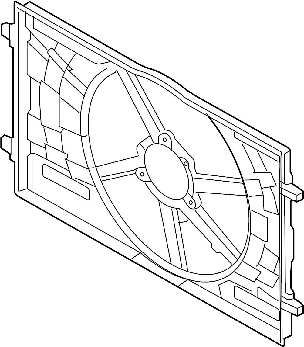Volkswagen GTI Engine Cooling Fan Shroud (Front). Brose