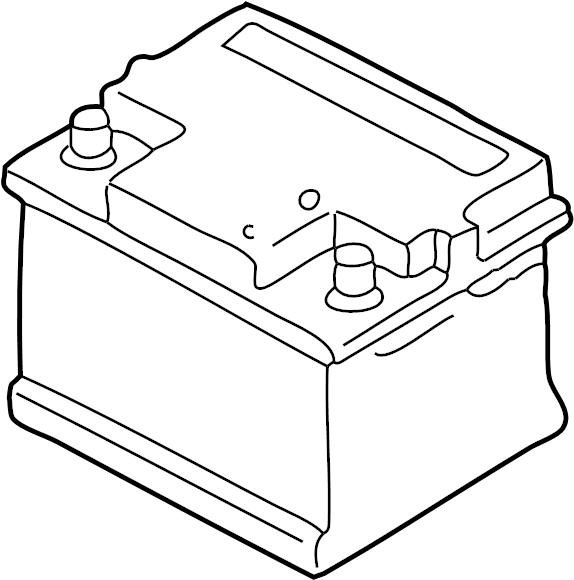 Volkswagen Golf Vehicle Battery. 2002-05, 380 amp. 380 amp