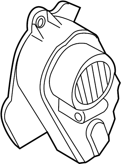 2010 Volkswagen Tiguan Accessory Drive Belt Cover. Engine