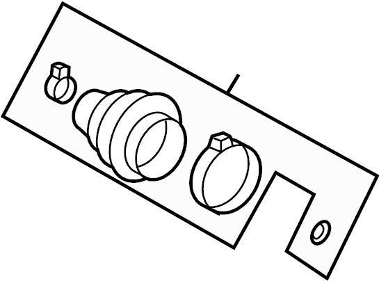 Volkswagen GTI Cv joint boot kit. Liter, left, right