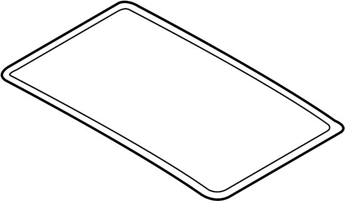 Volkswagen Jetta Sunroof. Seal. Glass. Gasket