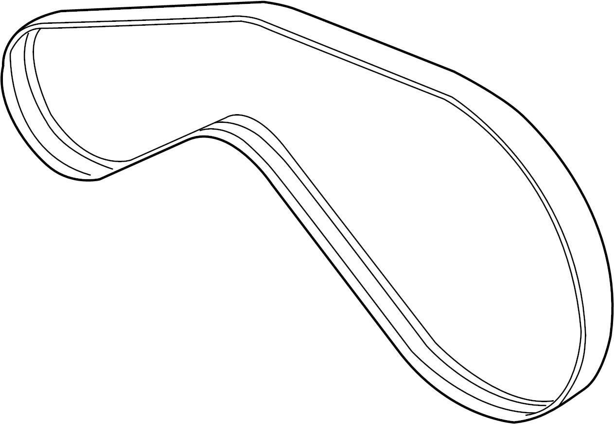 2009 Volkswagen Touareg Ribbedbelt. Serpentine belt. 4.2