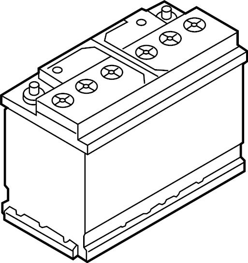 2015 Volkswagen Jetta Relay. Vehicle battery. Power source