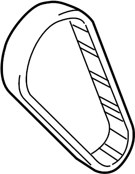 2010 Volkswagen GTI Drive belt. Engine Timing Belt. TOOTH