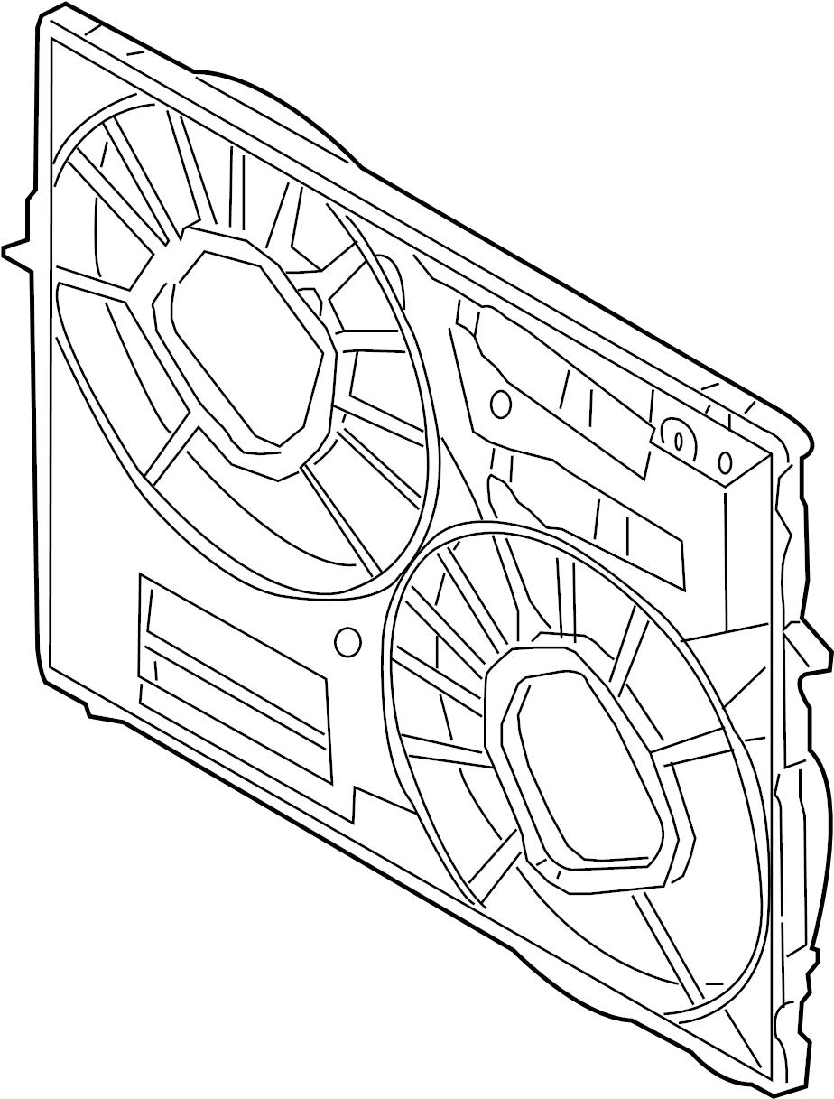 2005 Volkswagen Touareg Cowl. Engine cooling fan shroud