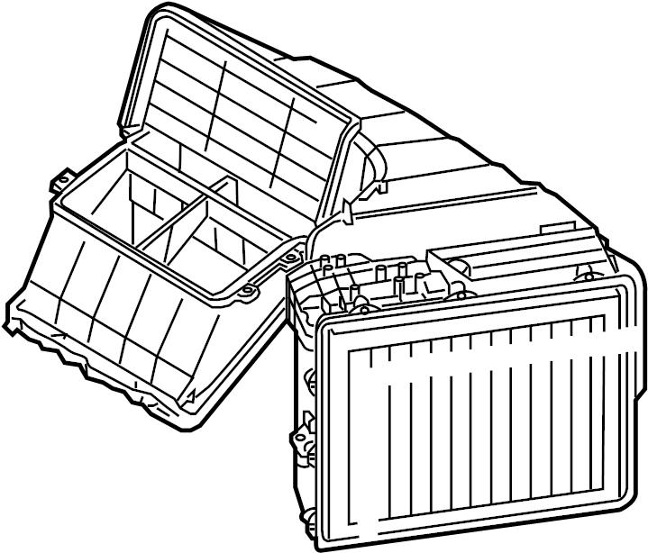 2005 Volkswagen Touareg Evaporator. Case. FRONT, VIN