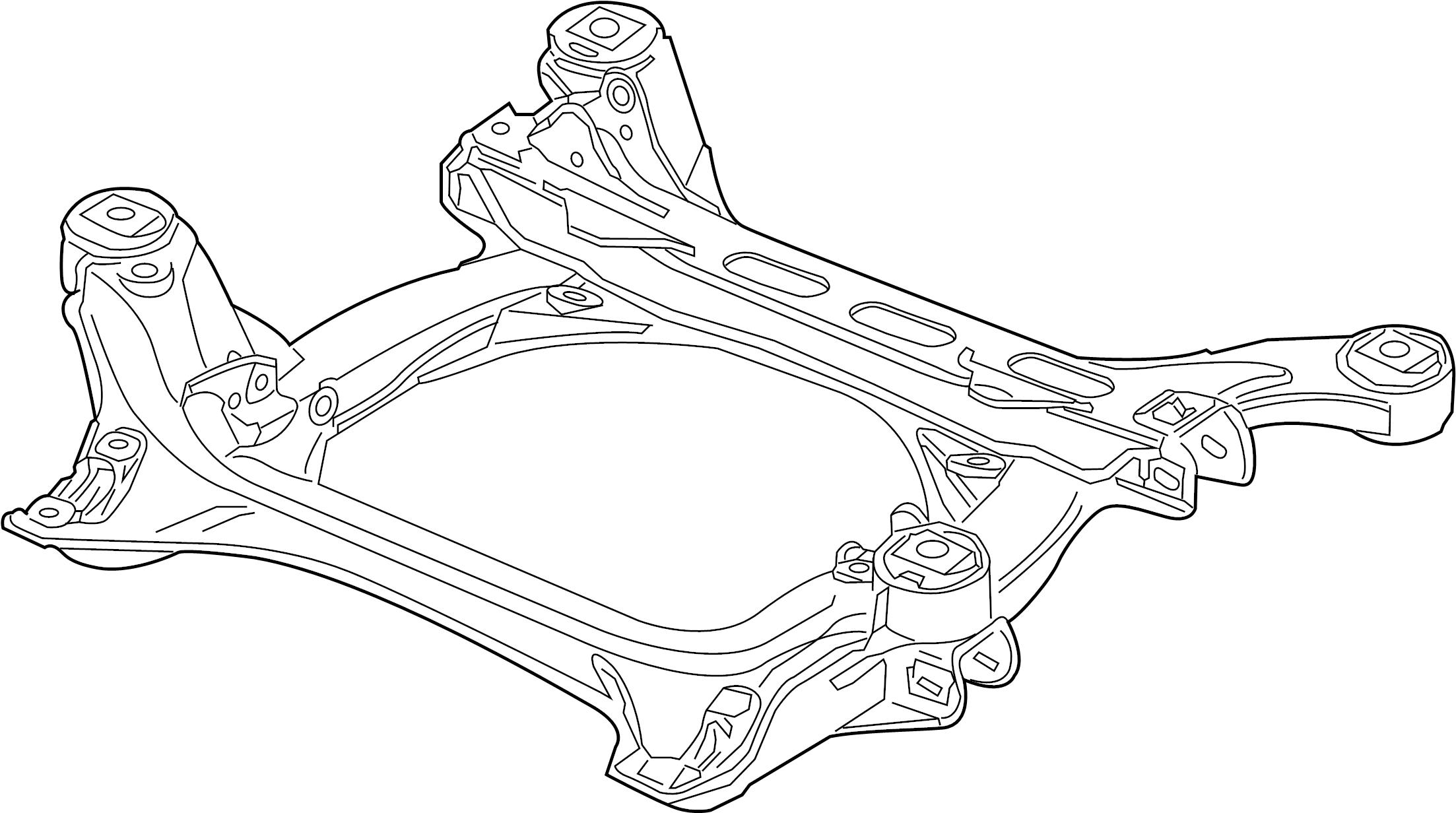 Volkswagen Touareg Suspension Subframe Crossmember C