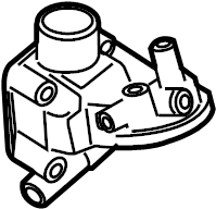 2001 Volkswagen Jetta Adapter. Engine oil cooler bracket