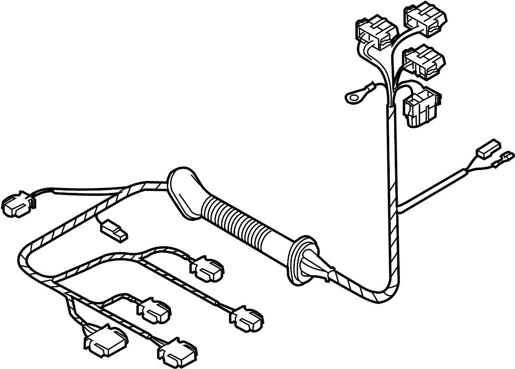 2007 Volkswagen Beetle Wire harness. Spoiler, VIN, GATE