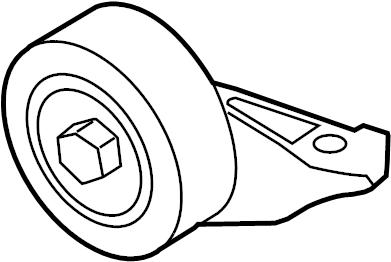 2012 Volkswagen Jetta Accessory Drive Belt Idler Assembly