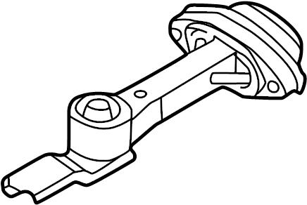 Volkswagen GTI Engine Mount (Rear). LITER, Trans, Manual