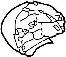 2006 Volkswagen Beetle Instant cluster bracket. Instrument