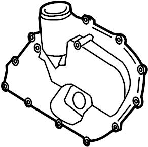 2011 Volkswagen Jetta Engine Timing Cover (Front, Upper