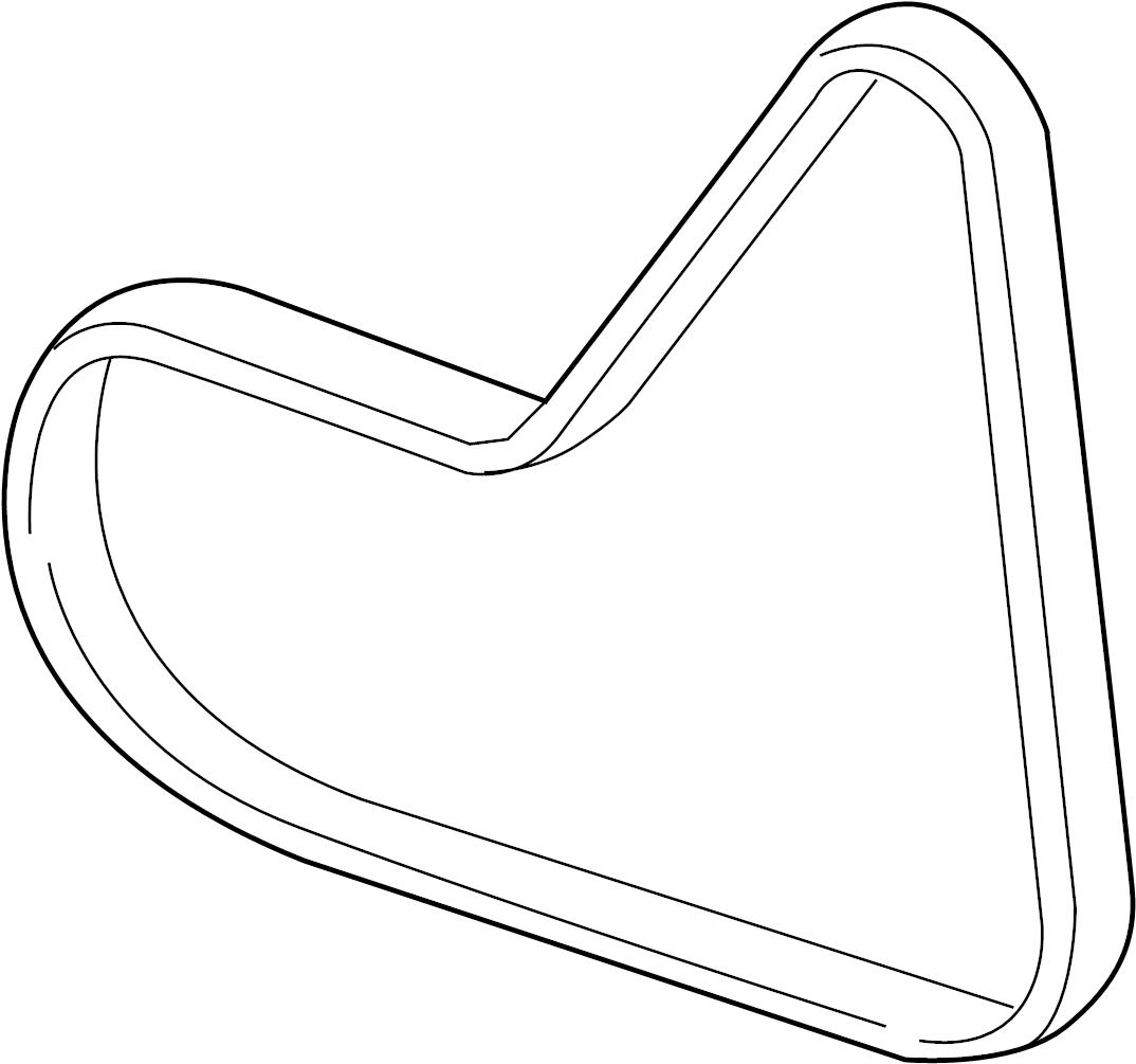 2006 Volkswagen Doublebelt. Serpentine belt. Liter