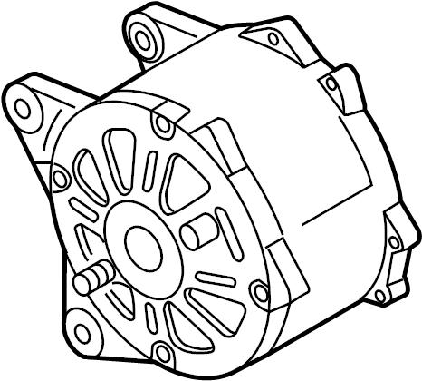 2013 Volkswagen Jetta 2.5L 5 cylinder M/T Alternator. 140