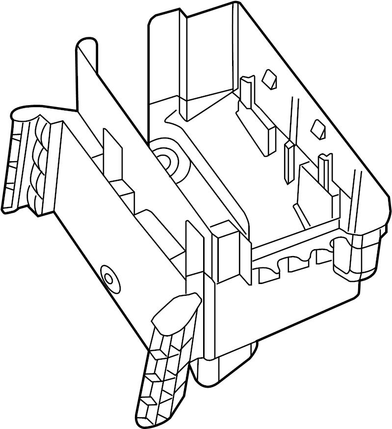 2015 Volkswagen Beetle Convertible Bracket. Fuse. Relay