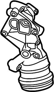 Volkswagen Jetta Engine Oil Filter Housing. 2.5 LITER