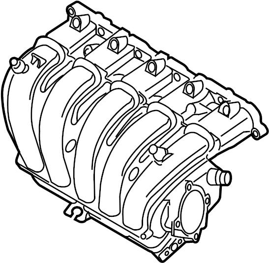 2012 Volkswagen Jetta SE Sedan 2.5L 5 cylinder A/T Engine