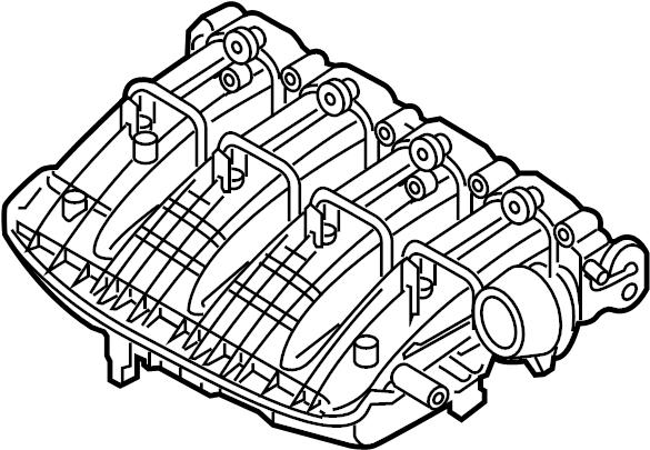 2014 Volkswagen Passat Engine Intake Manifold. Engine