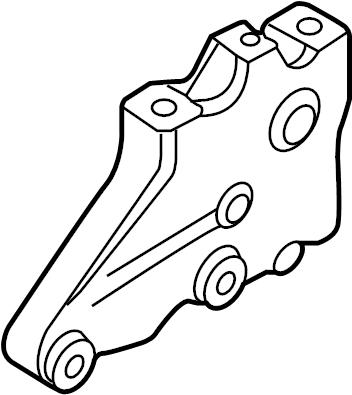 2010 Volkswagen Jetta SE Sedan Mount. Bracket