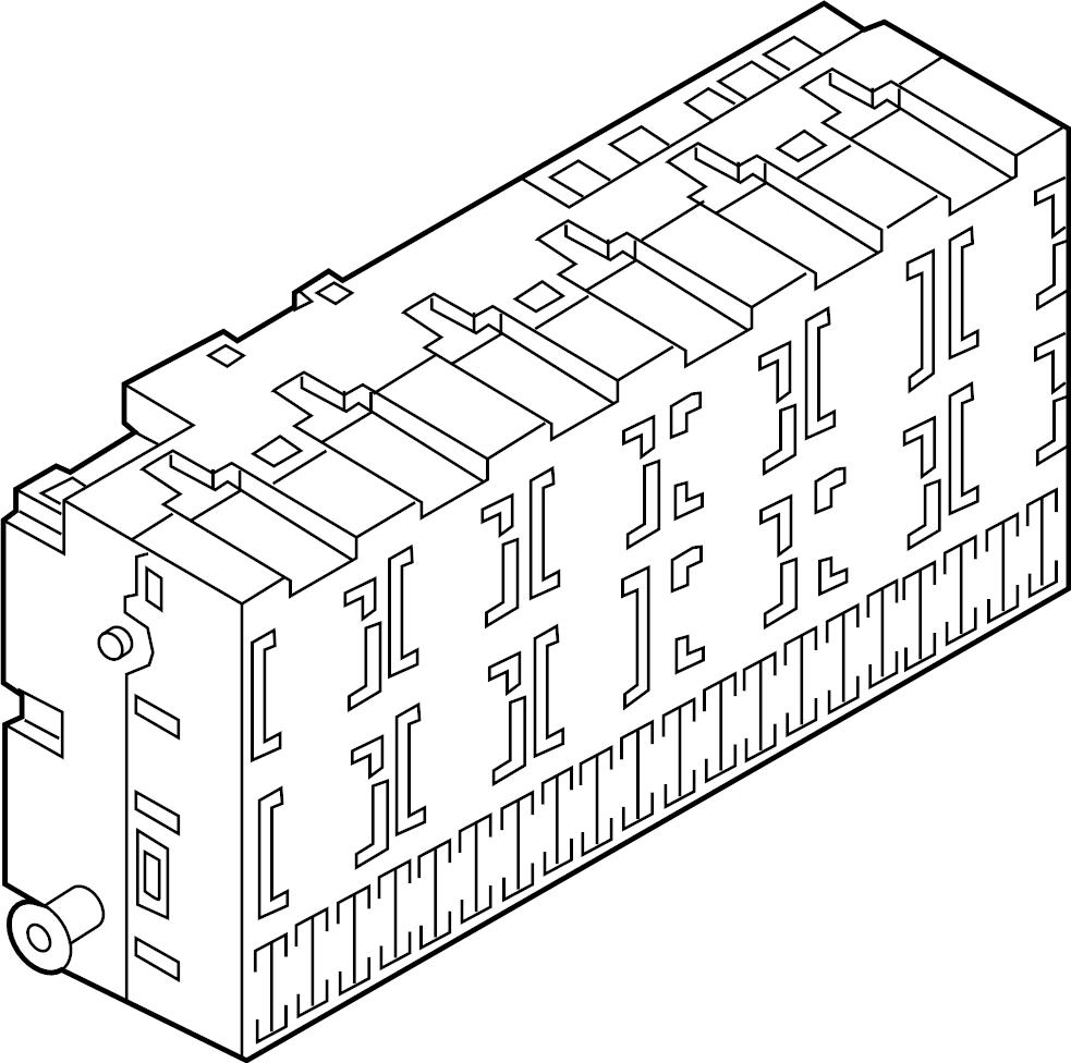 2001 Volkswagen Cabrio Fuse box. Relay AND fuse PLATE