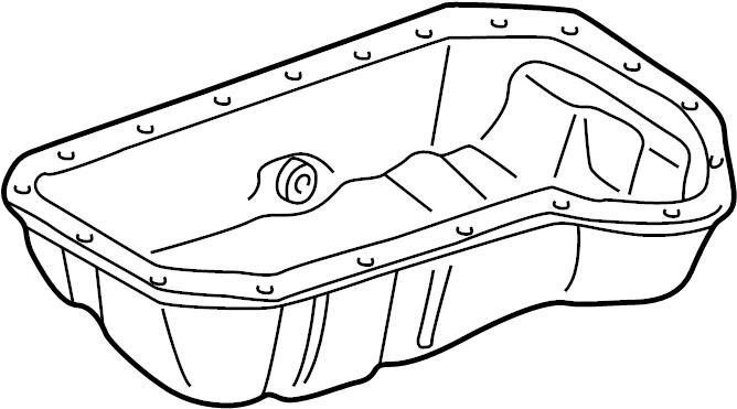 1997 Volkswagen Golf Engine Oil Pan. CYLINDER, BEARINGS