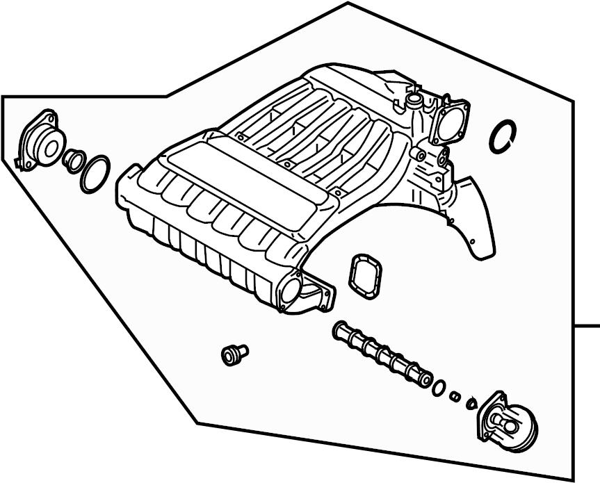 2004 Volkswagen Touareg Engine Intake Manifold. 3.2 LITER