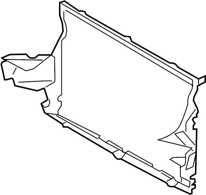 2012 Volkswagen Radiator Support Air Deflector (Lower