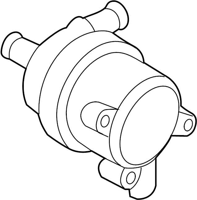 2012 Volkswagen Auxiliary pump. Engine auxiliary water