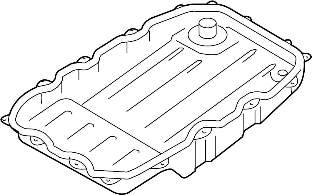 2013 Volkswagen Touareg Automatic Transmission Oil Pan