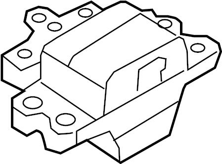 2011 Volkswagen Tiguan Manual Transmission Mount. ENGINE