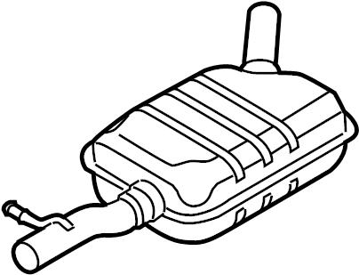 Volkswagen Tiguan Exhaust Muffler. Front, COMPONENTS