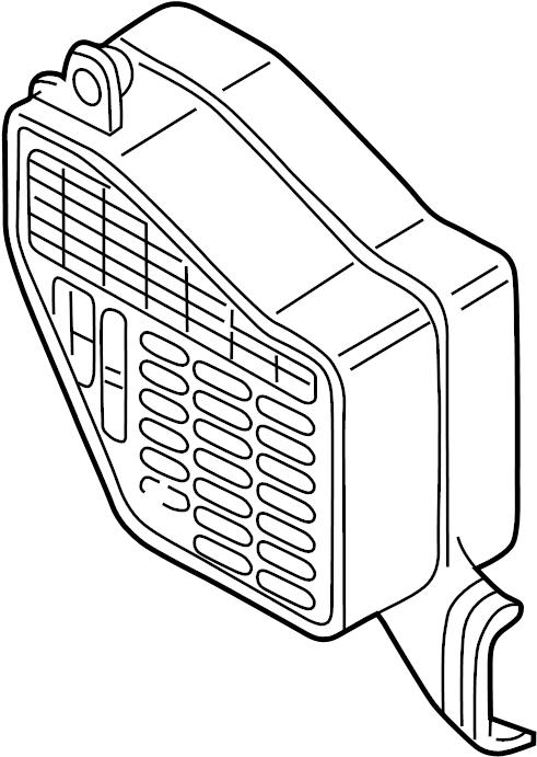 2000 Volkswagen Jetta TDI 1.9L DIESEL M/T Fuse Box