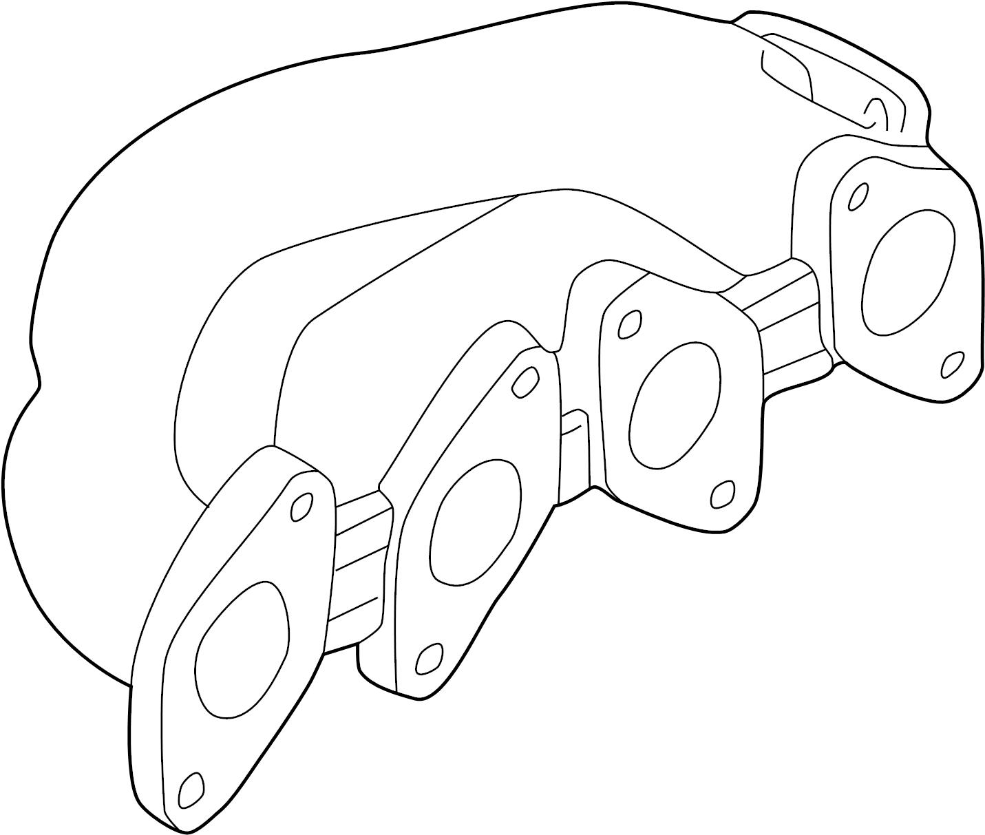 Volkswagen Passat Wagon Exhaust Manifold Liter Style