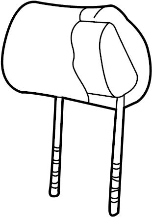 2005 Volkswagen Passat Headrest. SEAT BACK, leather