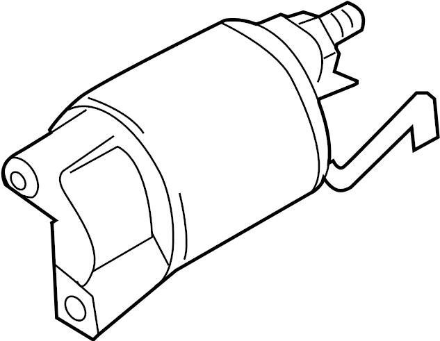 Volkswagen Golf Starter solenoid. SWITCH. Valeo, Trans