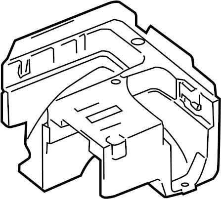 2007 Volkswagen Rabbit Bracket. Fuse. Relay. Box. And