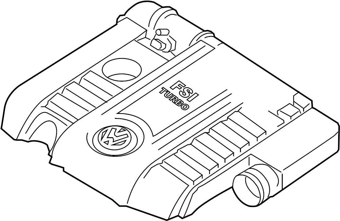 2007 Volkswagen Eos Air Filter Housing. 2006-08. 2007-08