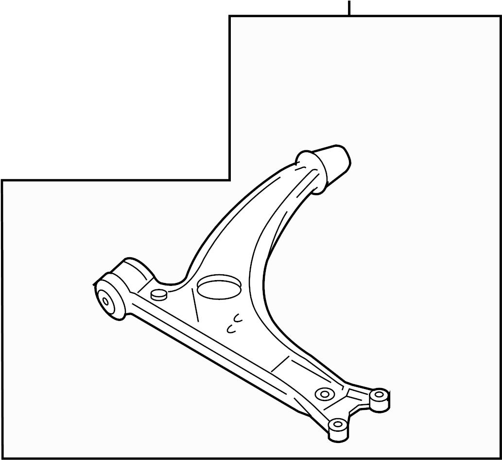 Volkswagen Passat Control Arm Front Suspension