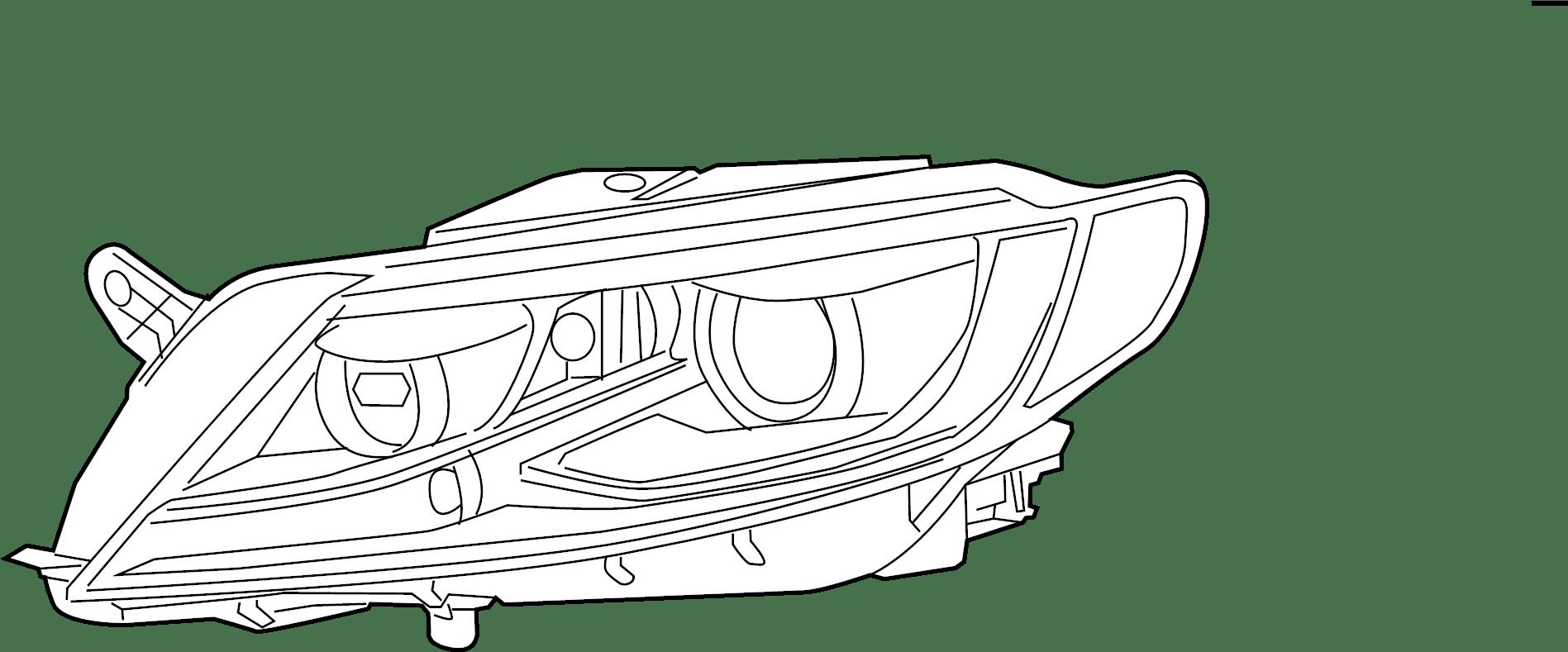 2014 Volkswagen CC Sport Sedan 2.0L A/T FWD Headlight