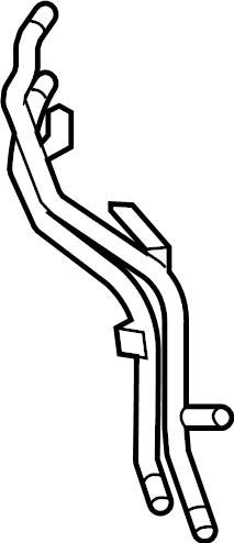 Volkswagen Tiguan Engine Coolant Pipe (Front, Upper