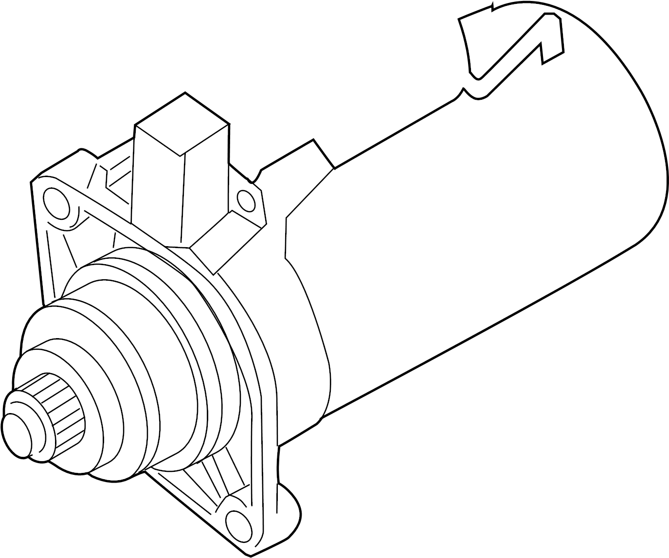Volkswagen Tiguan Starter Motor. 1.1 Kw. Reman. Trans